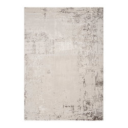 "Surya - Surya Nuage NUA-1006 (Light Gray) 7'10"" x 10'6"" Rug - The Nuage collection is unlike any other. This contemporary collection is incredibly soft to touch and features abstract patterns. Using 100% olefin these machine woven rugs are incredibly durable, which is seen in their stain, odor and fade resistant characteristics. These rugs are sure to make a statement."