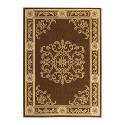 Safavieh - Safavieh Courtyard Transitional Rug X-3-9043-4192YC - Safavieh takes classic beauty outside of the home with the launch of their Courtyard Collection. Made in Belgium with enhanced polypropylene for extra durability, these rugs are suitable for anywhere inside or outside of the house. To achieve more intricate and elaborate details in the designs, Safavieh used a specially-developed sisal weave.