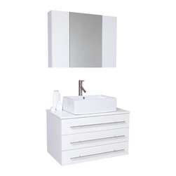 Fresca - Fresca Modello Modern Bathroom Vanity, White - Okay okay, we're going to brag. Our most popular piece comes in pint size! Perfect for one or smaller space.