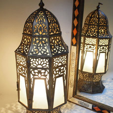 Mediterranean Table Lamps Brass Lamp Morocco