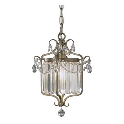 Murray Feiss - Murray Feiss Gianna Semi-Flush Mount Ceiling Fixture in Gilded Silver - Shown in picture: Gianna Chandelier - Duo in Gilded Silver finish