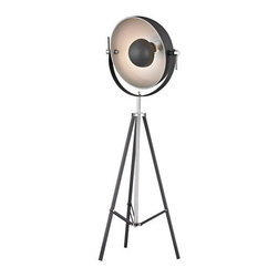 Dimond Lighting - Dimond Lighting D2464 Backstage 3 Light Tripod Floor Lamp with White Matte Black - Features: