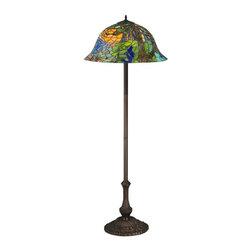 Meyda Tiffany - Landscape Floor Lamp - Bulb not included. Mahogany bronze base. Shade: 23 in. Dia. x 10.25 in. H. Overall: 23 in. Dia. x 64 in. H (86 lbs.). Care Instructions. Assembly Instructions