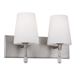Murray Feiss - Murray Feiss Monica 2 Bulb Satin Nickel Vanity Strip X-NS-20035SV - Murray Feiss Monica 2 Bulb Satin Nickel Vanity Strip X-NS-20035SV
