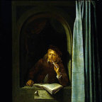 """Gerrit Dou Self Portrait - 18"""" x 24"""" Premium Archival Print - 18"""" x 24"""" Gerrit Dou Self Portrait premium archival print reproduced to meet museum quality standards. Our museum quality archival prints are produced using high-precision print technology for a more accurate reproduction printed on high quality, heavyweight matte presentation paper with fade-resistant, archival inks. Our progressive business model allows us to offer works of art to you at the best wholesale pricing, significantly less than art gallery prices, affordable to all. This line of artwork is produced with extra white border space (if you choose to have it framed, for your framer to work with to frame properly or utilize a larger mat and/or frame).  We present a comprehensive collection of exceptional art reproductions byGerrit Dou."""