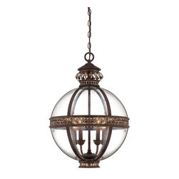 Savoy House - Strasbourg Large French Globe - The Strasbourg pendants are vintage inspired orbs beautifully detailed with Beveled glass and a Fiesta Bronze finish. This classic Savoy House design carries you back to a time when elegance and beauty dominated the design scene.