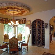 Mediterranean Dining Room by Stadler Custom Homes