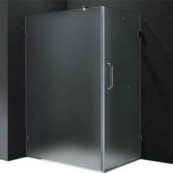 Vigo - Vigo 36 x 48 Frameless 3/8in.  Frosted/Chrome Shower Enclosure Left - Update your bathroom with this unique Vigo, stylish and totally frameless rectangular shape shower enclosure