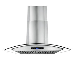 """AKDY - AKDY AK-Z668AS Euro Stainless Steel Wall Mount Range Hood, 36"""", Duct/Pipe - One of the original curved glass canopy range hoods, AKDY 668AS has become an icon by virtue of its timeless design. Now upgraded with suppression System, 668AS takes range hood detail and performance to higher grounds. outfitted with dual LED light bulbs and electronic controls, 668AS is as relevant today as it was the day we introduced it in 2008."""