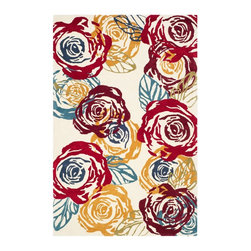 """Safavieh - Country & Floral Soho 8'3""""x11' Rectangle Ivory - Multi Color Area Rug - The Soho area rug Collection offers an affordable assortment of Country & Floral stylings. Soho features a blend of natural Ivory - Multi Color color. Hand Tufted of Wool the Soho Collection is an intriguing compliment to any decor."""