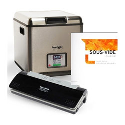 Sous Vide Supreme - Sous Vide Supreme, Vacuum Sealer & Can Roca Book Bundle - SousVide Supreme makes it easy to prepare gourmet meals in under 30 minutes hands-on time, all with incredible flavors and nutritional benefits.Precise temperature control to 1 degree Fahrenheit (0.5 degrees Celsius) Easy to use, few steps, time-saving meal preparationUnit can set it and walk away, includes timerVirtually impossible to overcook a meal, keeps the original flavor of foodsAdded nutritional value. Natural juices and nutrients are retained while cooking in the vacuum seal bagTenderizes inexpensive cutsEasy clean-up, pots and pans are not requiredEnergy-efficient and silent operation, uses energy equivalent to a 60 watt light-bulb