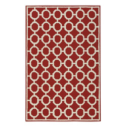 Home Decorators Collection - Espana Area Rug - A simply simpatico outdoor area rug that's beautifully styled to complement any home decor. Stunning Spanish influenced grillwork in an earth tone beige is set off by a wide range of brilliant colors. Complement your home decor today by ordering this classic synthetic outdoor rug. Available in a wide range of sizes. 100% poly acrylic with finished edges.