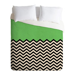 DENY Designs - DENY Designs Bianca Green This Way Duvet Cover - Lightweight - Turn your basic, boring down comforter into the super stylish focal point of your bedroom. Our Lightweight Duvet is made from an ultra soft, lightweight woven polyester, ivory-colored top with a 100% polyester, ivory-colored bottom. They include a hidden zipper with interior corner ties to secure your comforter. It is comfy, fade-resistant, machine washable and custom printed for each and every customer. If you're looking for a heavier duvet option, be sure to check out our Luxe Duvets!