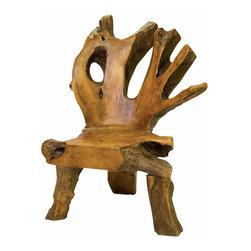 Groovystuff - Groovystuff Bighorn Root Chair in Honey - Features: