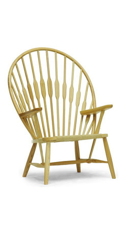 """Baxton Studio - Baxton Studio Newlin Modern Windsor Style Accent Chair - Evocative of the classic Windsor Chair, our updated, modernized version sits low-to-the-ground for a unique take on this timeless style. The Newlin Chair is made in China with a solid ash frame and woven, taut paper cord seat. A tall backrest is formed by long wooden dowels. The Newlin Chair is fully assembled and can be easily maintained by wiping clean with a dry cloth. Product dimension: 31.25""""W x 26.25""""D x 42.87""""H, seat'sion: 19.5""""W x 18.87""""D x 14.62""""H, arm height: 23.37"""""""