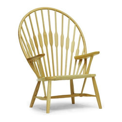 "Baxton Studio - Baxton Studio Newlin Modern Windsor Style Accent Chair - Evocative of the classic Windsor Chair, our updated, modernized version sits low-to-the-ground for a unique take on this timeless style. The Newlin Chair is made in China with a solid ash frame and woven, taut paper cord seat. A tall backrest is formed by long wooden dowels. The Newlin Chair is fully assembled and can be easily maintained by wiping clean with a dry cloth. Product dimension: 31.25""W x 26.25""D x 42.87""H, seat dimension: 19.5""W x 18.87""D x 14.62""H, arm height: 23.37"""