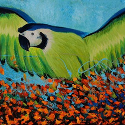 """Wings of Joy"" by Preethi: Original Large Modern Painting - Title: Wings of Joy"