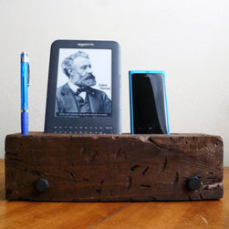 Barn Wood iPhone Dock Charging Station by J Rustic Furniture - I love to collect vintage wood drawers and repurposed pieces that function as cool storage. This wooden stand houses your devices in style (no scratches) and keeps them powered up. I'd set one on my nightstand.