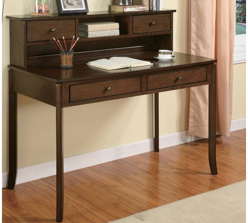 """Wildon Home � - 42"""" Writing Desk with Hutch - Features: -Writing desk.-Two spacious storage drawers offer additional storage space for work supplies.-Distressed: No.Dimensions: -Overall dimensions: 42'' H x 47.75'' W x 23.75'' D."""