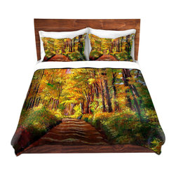 DiaNoche Designs - Duvet Cover Microfiber by David Lloyd Glover - Silence is Golden - DiaNoche Designs works with artists from around the world to bring unique, artistic products to decorate all aspects of your home.  Super lightweight and extremely soft Premium Microfiber Duvet Cover (only) in sizes Twin, Queen, King.  Shams NOT included.  This duvet is designed to wash upon arrival for maximum softness.   Each duvet starts by looming the fabric and cutting to the size ordered.  The Image is printed and your Duvet Cover is meticulously sewn together with ties in each corner and a hidden zip closure.  All in the USA!!  Poly microfiber top and underside.  Dye Sublimation printing permanently adheres the ink to the material for long life and durability.  Machine Washable cold with light detergent and dry on low.  Product may vary slightly from image.  Shams not included.
