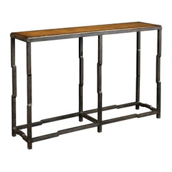 EuroLux Home - New Console Table  Brown/Beige/Tan Anigre - Product Details