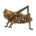 Wrought Iron Grasshopper - Vintage metal grasshopper is a great little accent to any room or to sit by a fireplace.