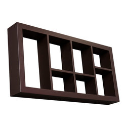 Holly & Martin - Collins Display Shelf, Espresso - These elegant display cubes are a perfect solution for all your decor needs! This cube display shelf will provide an easy way to update any wall, whether in a traditional or contemporary setting. A cool and contemporary way to show off souvenirs, small treasures or art, this wall cube creates a dynamic arrangement in a living or dining room.