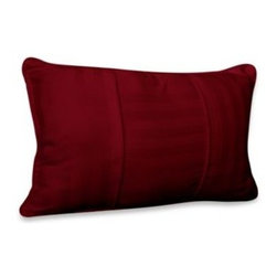 Wamsutta - Wamsutta 500 Damask Breakfast Pillow in Burgundy - Complete the look of your 500 Damask Burgundy comforter set with this matching breakfast pillow. 500 thread count. 100% Egyptian cotton sateen weave cover with 100% polyester fill. Sold separately.