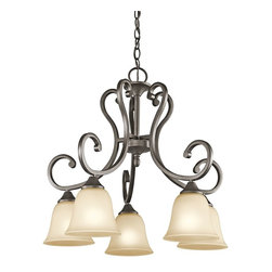 Kichler - Kichler Feville Pendant Chandelier in Olde Bronze - Shown in picture: Kichler Chandelier 5Lt Down in Olde Bronze