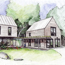 Rustic Rendering by Caleb Johnson Architects + Builders