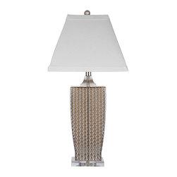 Bassett Mirror - Bassett Mirror Slayton Table Lamp L2772TEC - Bassett Mirror Slayton Table Lamp L2772TEC