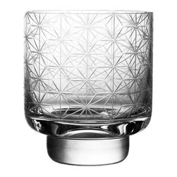 Bomma - 7.7 oz Stellis Collection Crystal Vodka Glass - Set of 2 - Set of 2 - The Stellis 7.7 oz. crystal vodka glass provides an ample serving while showing off fine design at your special table. Designer Rony Plesl has created a collection of glassware inspired by class Bohemia patterns updated with etching that relies on the latest in glassware manufacturing technology. The geometric patterns of the Stellis collection beckon you to hold the glassware in your hand before enjoying your favorite beverage.