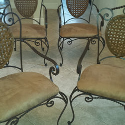 * Upholstery and Reupholstery work - The result. Stained and reupholstered.