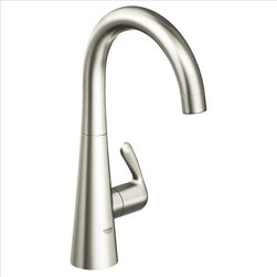 Grohe - Grohe Ladylux Basin/Pillar tap - The Ladyluxfeatures a dynamic and flowing silhouette with a more streamlined body than its predecessors. The flower-like body rises organically from the counter and merges with an elegantly arched spout and distinctive lever. Available in pullout and pull-down versions, all feature dual-spray functionality and forward rotation lever handle to eliminate backsplash installation limits