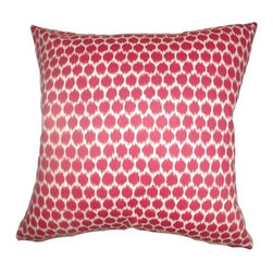 """The Pillow Collection - Daile Spots Pillow Fuchsia 18"""" x 18"""" - This 18"""" throw pillow comes with fancy spots print pattern. The square pillow features a delectable color in fuchsia. Accentuate your bed or sofa with this perfect decor piece. This 18"""" pillow is made from 100% cotton fabric. Add this contemporary pillow to your home design for a funky and modern vibe. Hidden zipper closure for easy cover removal.  Knife edge finish on all four sides.  Reversible pillow with the same fabric on the back side.  Spot cleaning suggested."""