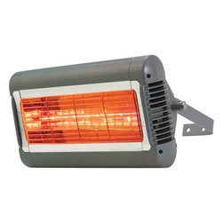 Solaira Alpha Series H1 SALPHA15120S 120 Volt / 1500 Watt Quartz Eleme - Solaira ALPHA SERIES H1 1.5kW 120V SILVER/GREYThe Innovative Solaira All-weather Outdoor Quartz Heater is highly efficient and economical. It is environmentally friendly, odorless, safe and virtually maintenance free. This unique heater only heats people and objects within the heat zone, not the air in between.* High Output (1500, 2000, 3000, 4000, 4500 and 6000 Watt), Engineered to be installed in individually or tandem (see mounting options) for up to 18,000 watts of Solaira Heat* Professional Grade* 5000 hour emitter life (The emitter is included and can be replaced, sold seperately)* IP23/65 rated Rain and snow proof* Powder coated, formed metal body* Min. mounting height: 8'3'/Min. clearance to above: 1' (see individual product)* Certification: cCSAus (UL2021), CE approved* 120 Volt: Power Cord Length: 15 feet. plug included (direct wired heater) Terminal box is included* Size (W/H/D): 18.5?/9.0?/5.5? (w/bracket 11?)