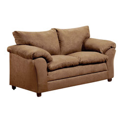 Chelsea Home Furniture - Chelsea Home Gail Loveseat in Victory Lane Taupe - Gail loveseat in Victory Lane Taupe belongs to the Chelsea Home Furniture collection