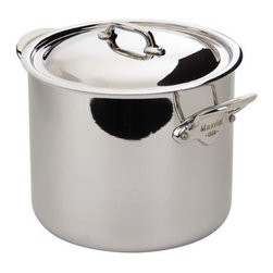 Mauviel - Mauviel M'Cook Magnetic Stock Pot with Lid, Cast Stainless Steel Handle, 3.0 qt. - 5 ply Construction - High performance cookware, works on all cooking surfaces, including induction.