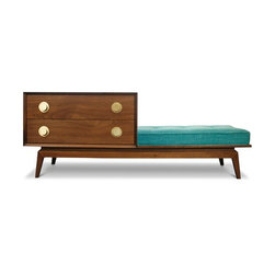 Jonathan Adler Claude Walnut Gossip Bench Set in New -
