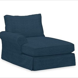 PB Comfort Roll Arm Left Arm Chaise, Polyester Wrap, Brushed Canvas Harbor Blue - Sink into this comfort sectional just once, and you'll know how it got its name.With extra-deep seats and three layers of thick padding on the arms and back, these eco-friendly components provide roomy comfort for the whole family. {{link path='pages/popups/PB-FG-Comfort-Roll-Arm-4.html' class='popup' width='720' height='800'}}View the dimension diagram for more information{{/link}}. {{link path='pages/popups/PB-FG-Comfort-Roll-Arm-6.html' class='popup' width='720' height='800'}}The fit & measuring guide should be read prior to placing your order{{/link}}. Choose polyester wrapped cushions for a tailored and neat look, or down-blend for a casual and relaxed look. Choice of knife-edged or box-style back cushions. Proudly made in America, {{link path='/stylehouse/videos/videos/pbq_v36_rel.html?cm_sp=Video_PIP-_-PBQUALITY-_-SUTTER_STREET' class='popup' width='950' height='300'}}view video{{/link}}. For shipping and return information, click on the shipping tab. When making your selection, see the Quick Ship and Special Order fabrics below. {{link path='pages/popups/PB-FG-Comfort-Roll-Arm-7.html' class='popup' width='720' height='800'}} Additional fabrics not shown below can be seen here{{/link}}. Please call 1.888.779.5176 to place your order for these additional fabrics.