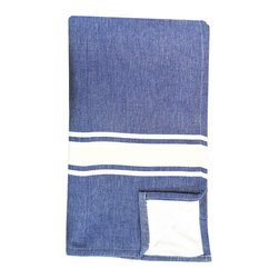 BrandWave - Bath Fouta, Denim - Combining two traditions, we took our inspiration from a combination of traditional Turkish bath sheets, and a standard Western terry bath towel. Turkish bath sheets are flat-woven and traditionally used in bathhouses. The combination of the highly absorbent fouta and the traditional Western terry makes this bath sheet, in colors you recognize, familiar enough for you to use on an everyday basis.