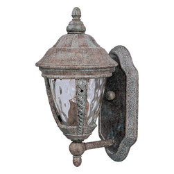 Maxim Lighting - Maxim Lighting Whittier DC Outdoor Wall Mount Light Fixture in Earth Tone - Shown in picture: Whittier Cast is a traditional - European style collection from Maxim Lighting International in Earth Tone finish with Water Glass glass.
