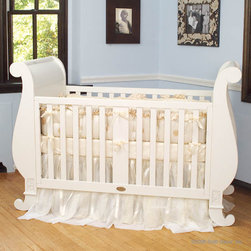 Chelsea Sleigh Crib in White by Bratt Decor - Chelsea Sleigh Crib in White by Bratt Decor