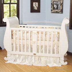 Chelsea Sleigh Crib in White by Bratt Decor - Chelsea Sleigh Crib in White by Bratt Decor