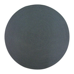 None - Lemonade Indoor/ Outdoor Navy Braided Rug (6' Round) - This braided rug features a cross-blocked construction durable enough for the roughest weather conditions. This indoor/outdoor rug is made of polypropylene that is made with surface yarns that are anti-rot, anti-mildew and are treated to withstand UV.
