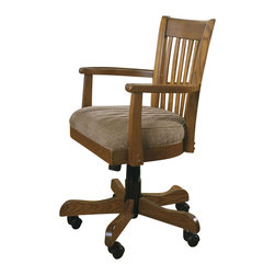 Riverside Furniture - Riverside Furniture Woodland's Oak Bankers Desk Chair - Riverside Furniture - Office Chairs - 69227 - Riverside's products are designed and constructed for use in the home and are generally not intended for rental, commercial, institutional or other applications not considered to be household usage.