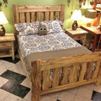 Colorado Blue Pine Rustic Bed - Solid Beetlekill Blue Pine Rustic bedroom set, handcrafted in Niwot, CO. Available in any size, for traditional, platform and alternative mattresses. Made-to-Order in Colorado and finished with our signature hand-rubbed oil blend. Nationwide shipping available.