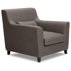 Contemporary Armchairs And Accent Chairs Trafalgar Grey-Brown Premium Arm Chair