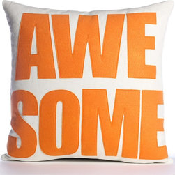 'Awesome' Pillow - This ecofriendly pillow will remind you of what your summer should be. Send the message!