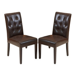 Best Selling Home - Gentry Bonded Leather Dining Chair - Set of 2 - Set of 2. Supple bonded leather. Softly padded seat bottom and back. Diamond-patterned tufting. Sturdy wood frame. Espresso-stained wood legs. Perfect in a dining room or can be useful in any part of the house for additional comfortable seating. Arrives fully assembled. 30-Day manufacturer's warranty. 22.44 in. L x 17.2 in. W x 35.83 in. HGive your child their own stylish seat that you won't mind placing next to your own furniture with the Kids Wicker Chair 2pk. Classy enough for use inside or out, you'll find endless reasons to adore these kids chairs.